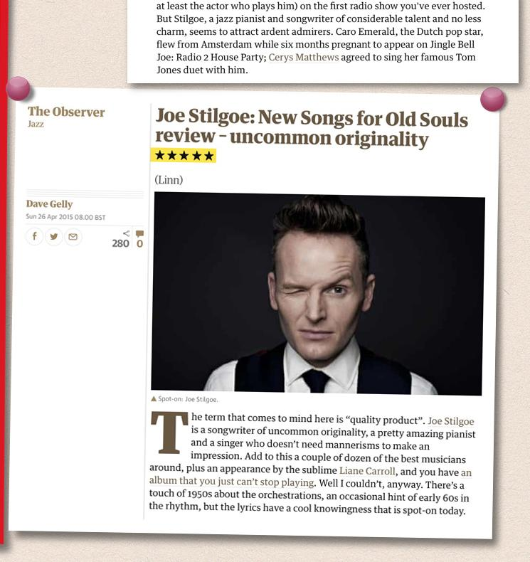 Joe Stilgoe Pinboard image 4